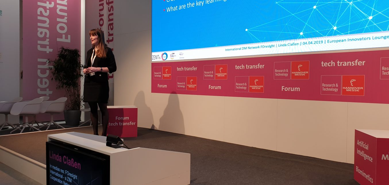HANNOVERMESSE 2019: FOresIght auf der EUROPEAN INNOVATORS Lounge